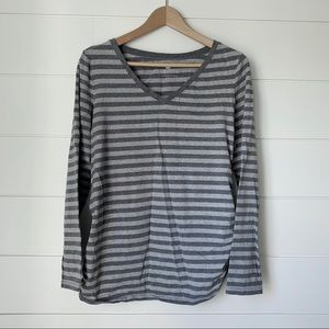 TWO HEARTS MATERNITY Grey Striped Tee